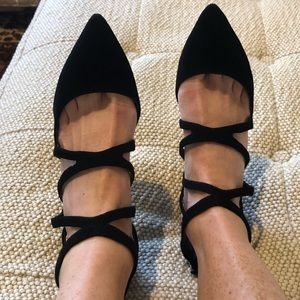 Zara Black Suede Pumps Size 37